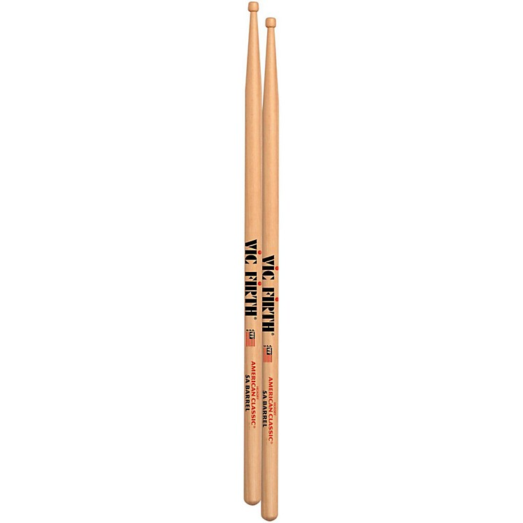 Vic FirthAmerican Classic Drumsticks with Barrel TipWood 5A