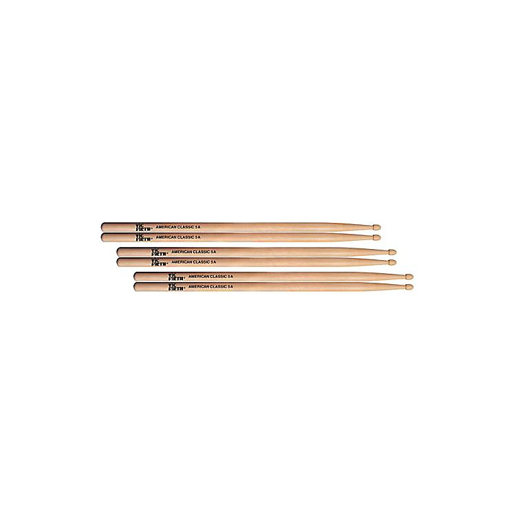 Vic Firth American Classic Hickory Wood 5A 3 Pair