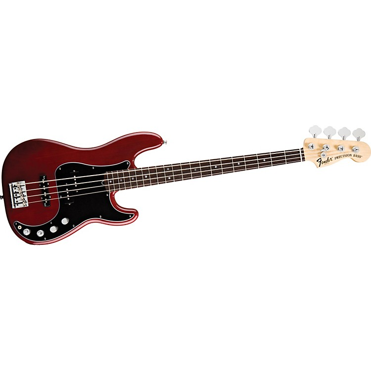 Fender American Deluxe Precision Bass Wine Transparent Rosewood Fretboard