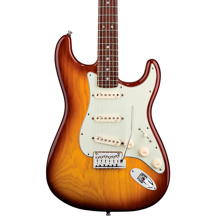 FenderAmerican Deluxe Stratocaster Ash Electric GuitarTobacco Sunburst
