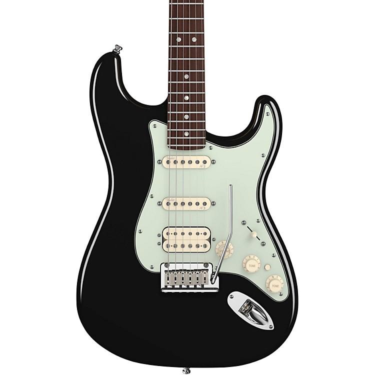 FenderAmerican Deluxe Stratocaster HSS Electric GuitarBlackRosewood Fretboard
