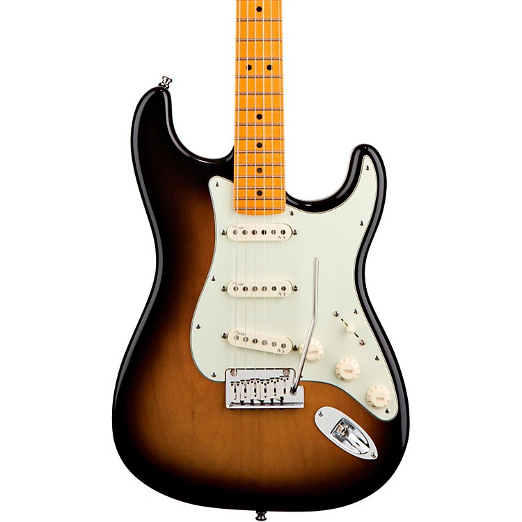Fender American Deluxe Stratocaster V Neck Electric Guitar 2-Color Sunburst