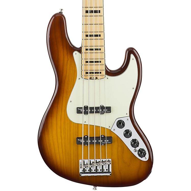 FenderAmerican Elite Jazz Bass V, Maple Electric Bass GuitarTobacco Sunburst