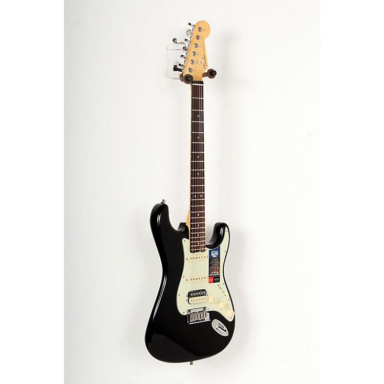 FenderAmerican Elite Stratocaster HSS Shawbucker Rosewood Fingerboard Electric GuitarMystic Black888365770314