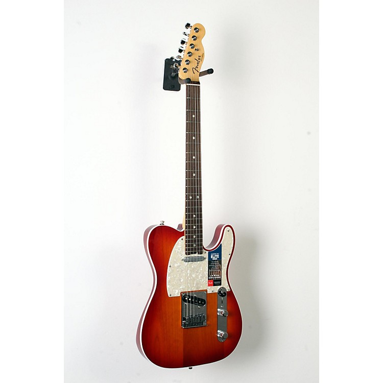 Fender American Elite Telecaster Rosewood Fingerboard Electric Guitar Aged Cherry Burst 888365855912