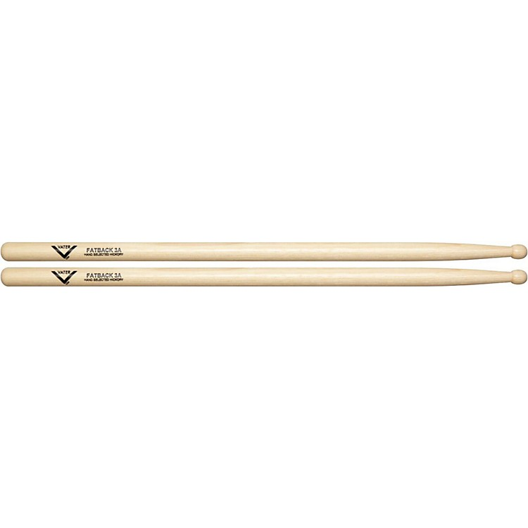Vater American Hickory Fatback 3A Drumsticks  Wood