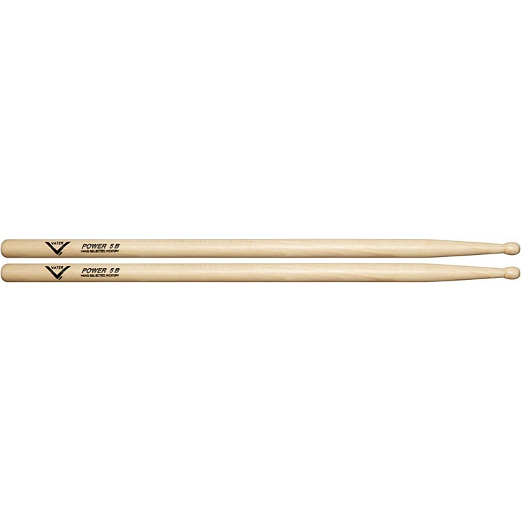 VaterAmerican Hickory Power 5B DrumsticksWood