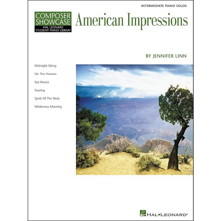 Hal LeonardAmerican Impressions - Composer Showcase Series Intermediate Hal Leonard Student Piano Library by Jennifer Linn