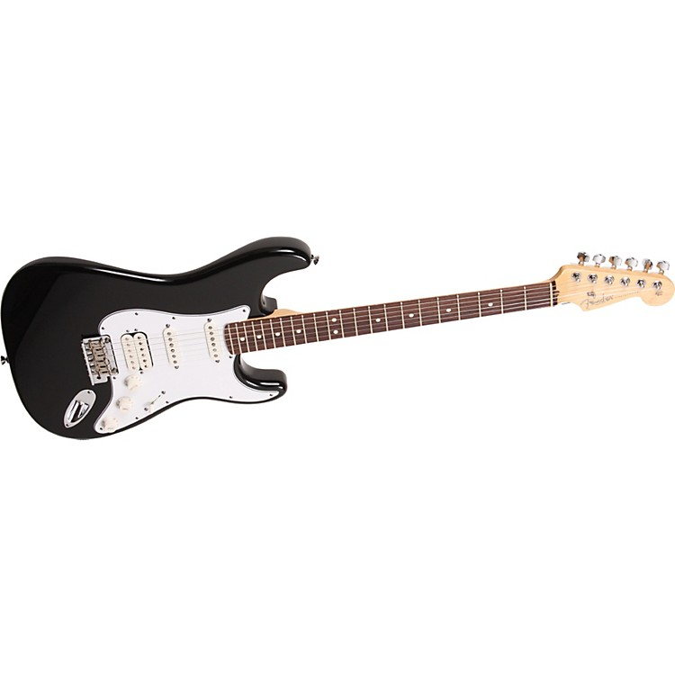 FenderAmerican Standard HSS Stratocaster Electric GuitarBlackRosewood Fretboard