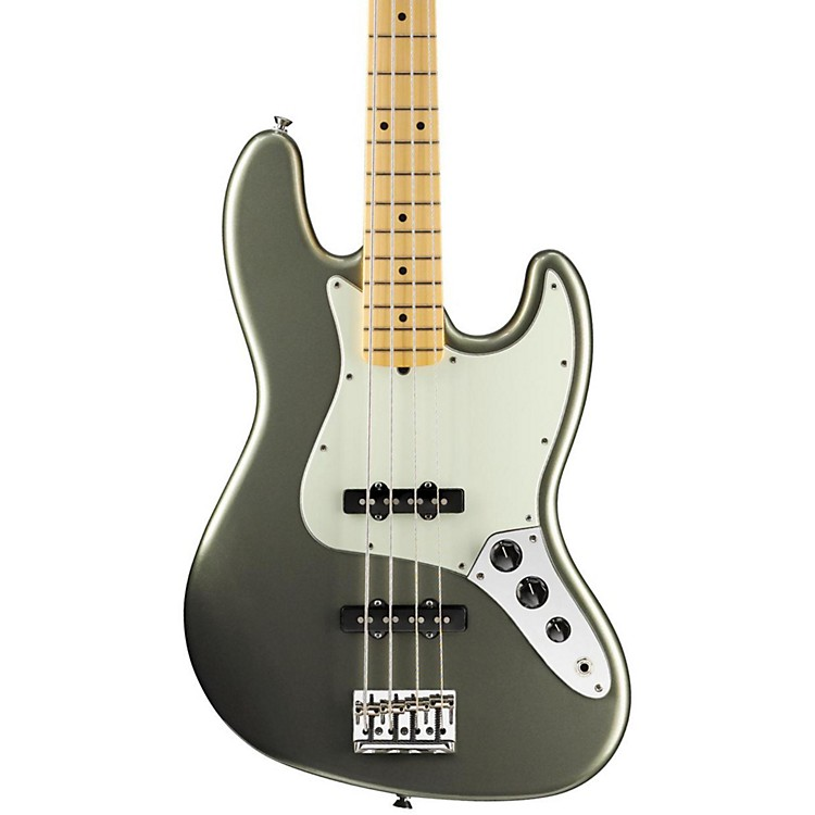 Fender American Standard Jazz Bass with Maple Fingerboard Jade Pearl Metallic Maple Fingerboard