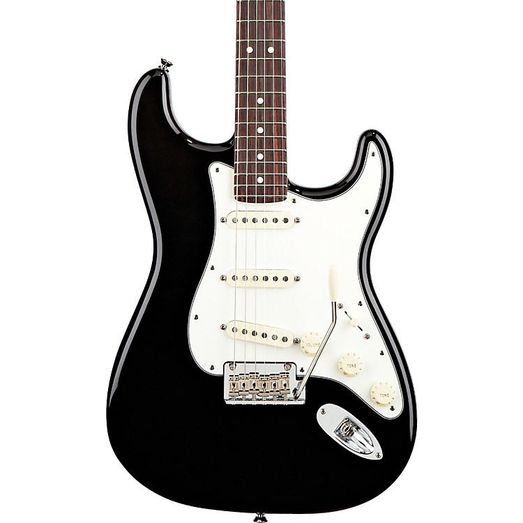 FenderAmerican Standard Stratocaster Electric GuitarBlackRosewood Fingerboard