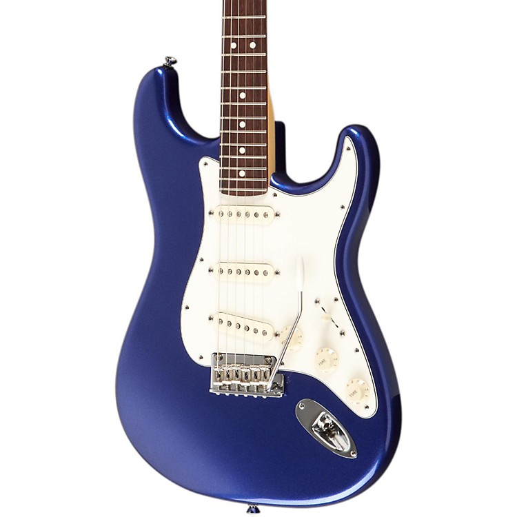 Fender American Standard Stratocaster Electric Guitar Mystic Blue Rosewood