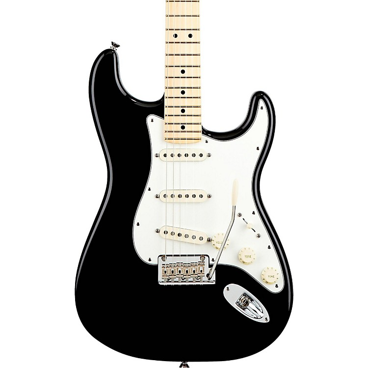 Fender American Standard Stratocaster Electric Guitar with Maple Fingerboard Black Maple Fingerboard