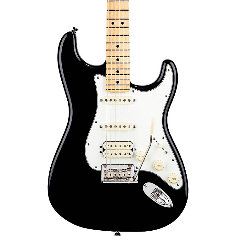 Fender American Standard Stratocaster HSS Electric Guitar with Maple Fretboard Black Maple Fingerboard
