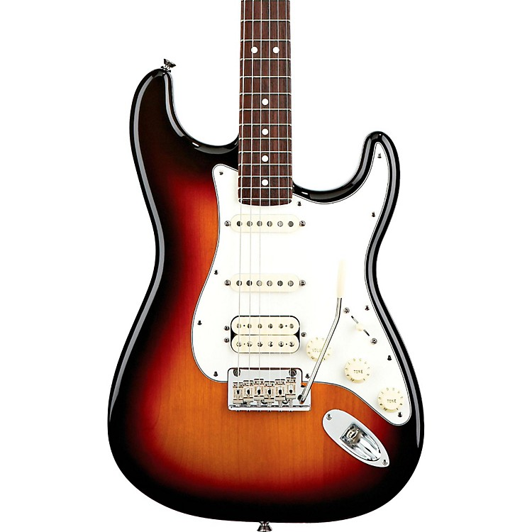 FenderAmerican Standard Stratocaster HSS Electric Guitar with Rosewood Fretboard3-Color SunburstRosewood Fingerboard