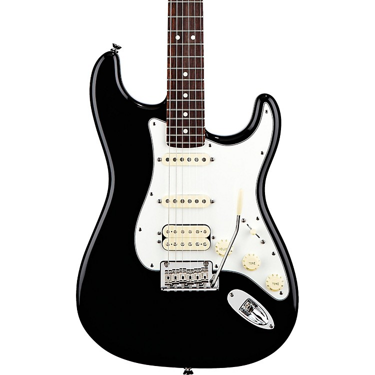 Fender American Standard Stratocaster HSS Electric Guitar with Rosewood Fretboard Black Rosewood Fingerboard