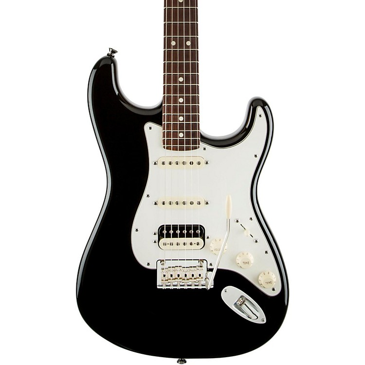 Fender American Standard Stratocaster HSS Shawbucker Rosewood Fingerboard Electric Guitar Black