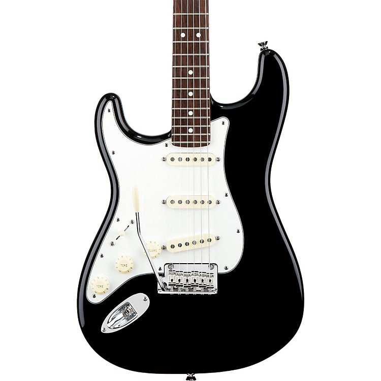 FenderAmerican Standard Stratocaster Left-Handed Electric GuitarBlackRosewood Fingerboard