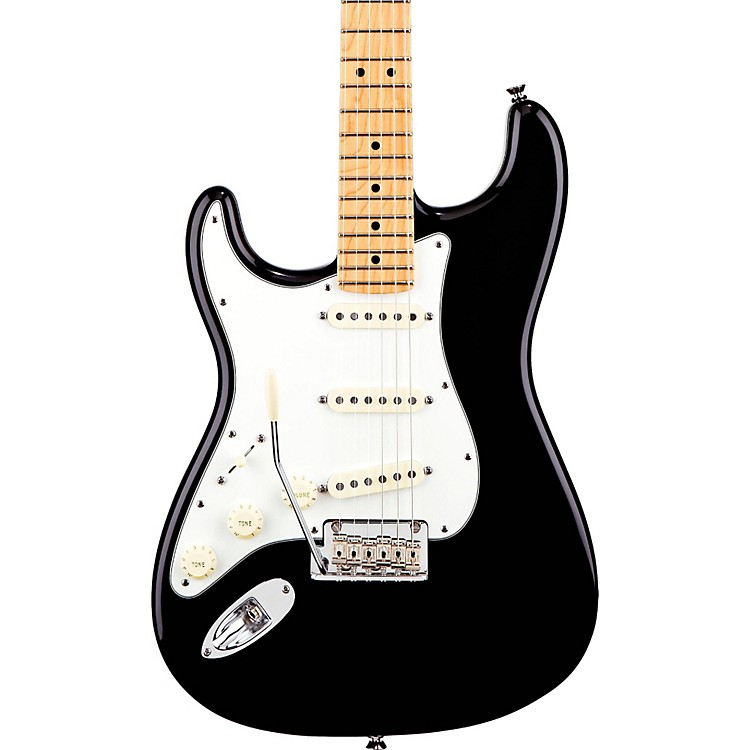 Fender American Standard Stratocaster Left-Handed Electric Guitar with Maple Fretboard Black Maple Fingerboard