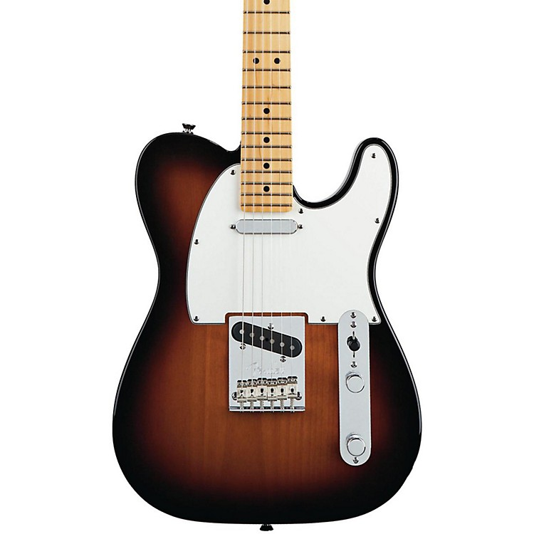 Fender American Standard Telecaster Electric Guitar with Maple Fingerboard 3-Color Sunburst Maple Fingerboard