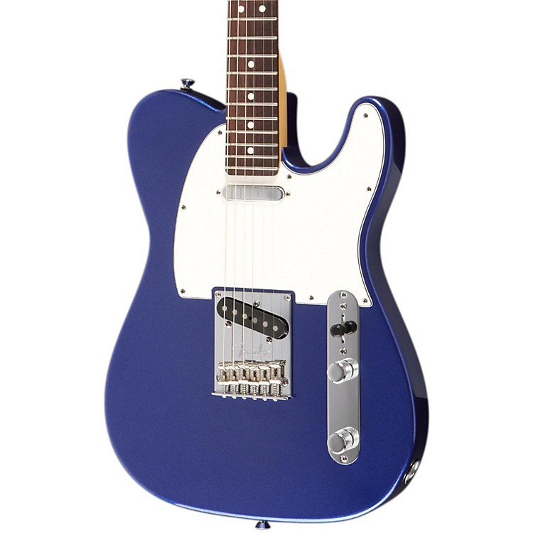 Fender American Standard Telecaster Electric Guitar with Rosewood Fingerboard Mystic Blue Rosewood