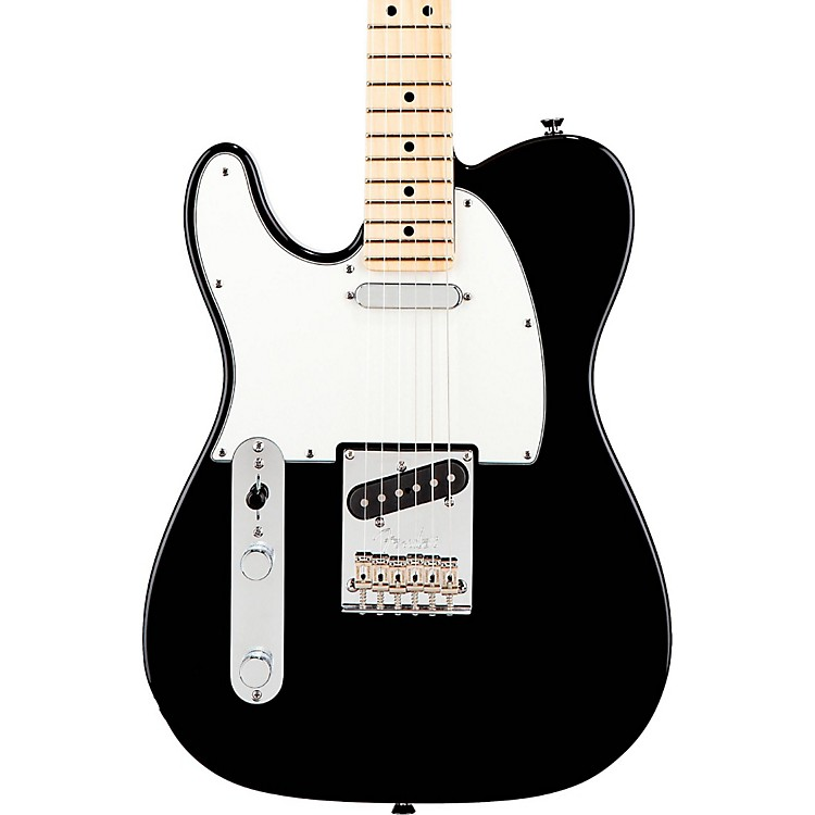 Fender American Standard Telecaster Left-Handed Electric Guitar with Maple Fingerboard Black Maple Fingerboard