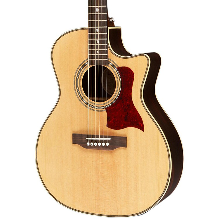 Luna Guitars Americana Classic AMF 100 Folk Cutaway Acoustic-Electric Guitar Natural Folk