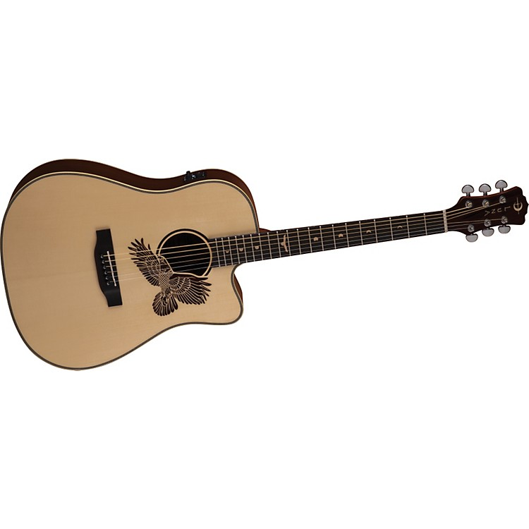 Luna GuitarsAmericana Cutaway Acoustic-Electric Guitar  (Eagle Laser Etch)