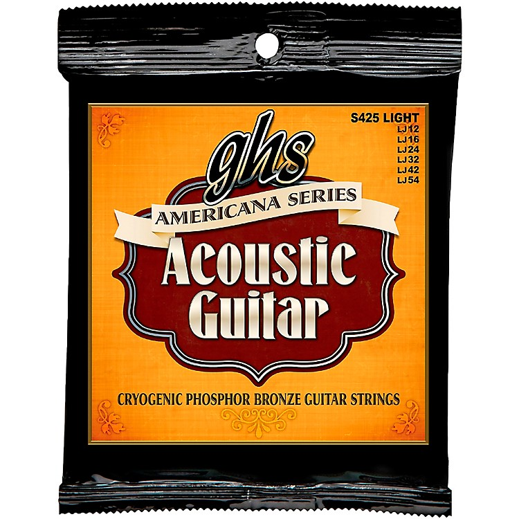 GHS Americana Light Acoustic Guitar Strings (12-54)