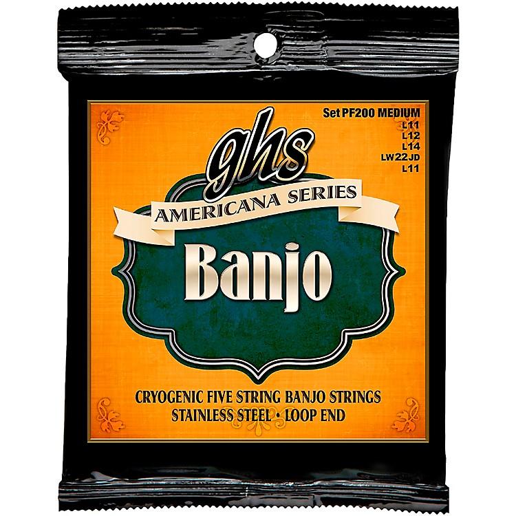 GHSAmericana Medium Banjo Strings (11-LWJD-11)