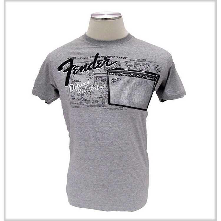 Fender Amp Layout T-Shirt Gray Medium