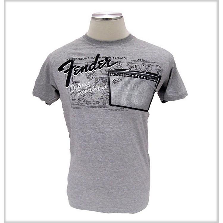 FenderAmp Layout T-ShirtGreyMedium