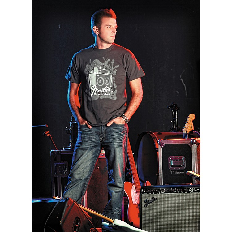 Fender Amplifiers T-Shirt Charcoal Small