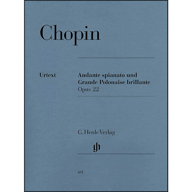 G. Henle Verlag Andante Spianato And Grande Polonaise Brillante E Flat Major Opus 22 By Chopin