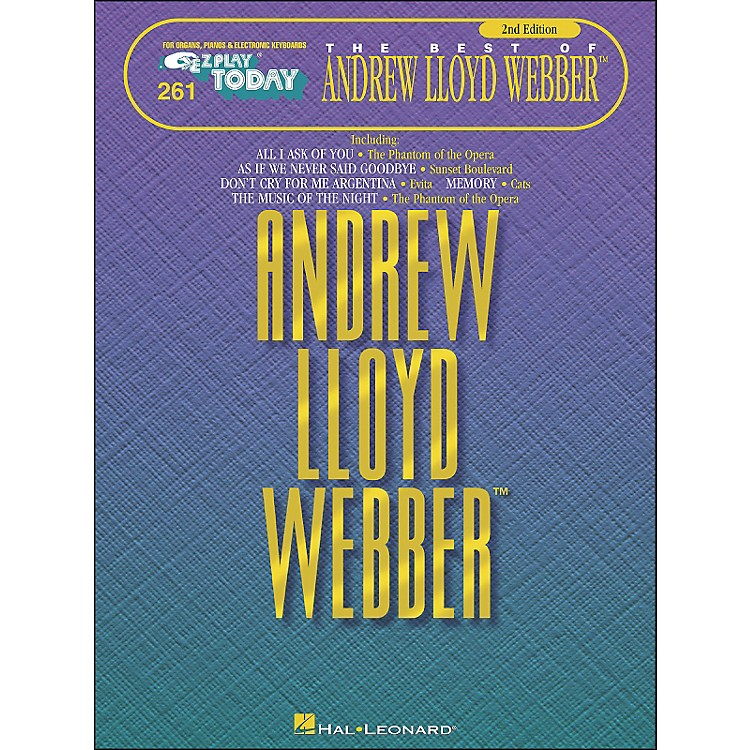 Hal Leonard Andrew Lloyd Webber 2nd Edition E-Z Play 261