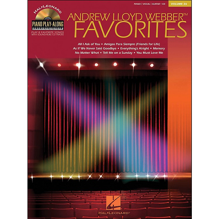 Hal LeonardAndrew Lloyd Webber Favorites Volume 26 Book/CD Piano Play-Along arranged for piano, vocal, and guitar (P/V/G)