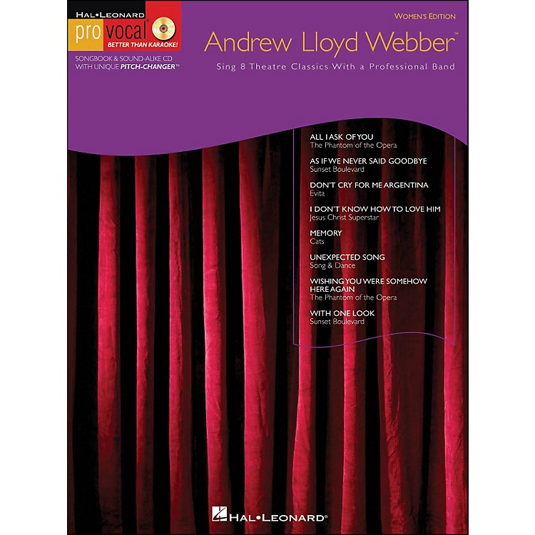 Hal Leonard Andrew Lloyd Webber Pro Vocal Series Women's Edition Book/CD Volume 10