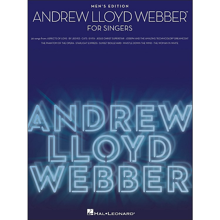 Hal Leonard Andrew Lloyd Webber for Singers - Men's Edition