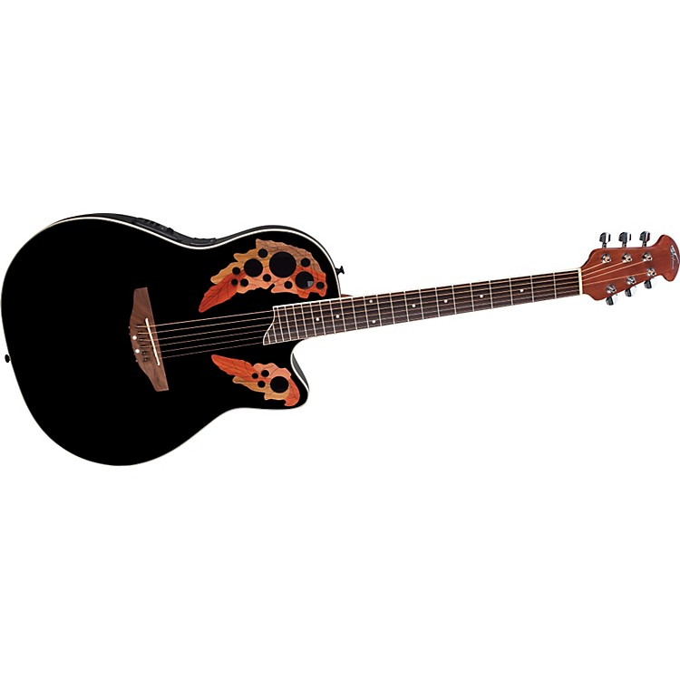 Ovation Applause Series AE148 Super Shallow Cutaway Acoustic-Electric Guitar Black