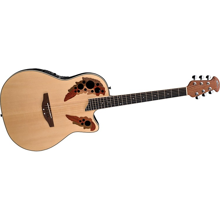 Ovation Applause Series AE148 Super Shallow Cutaway Acoustic-Electric Guitar Natural