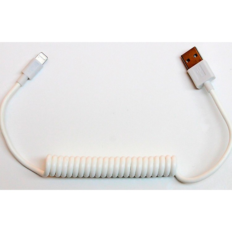Tera Grand Apple MFi Certified - Lightning to USB Sync and Charge Coil Cable 3 ft. White