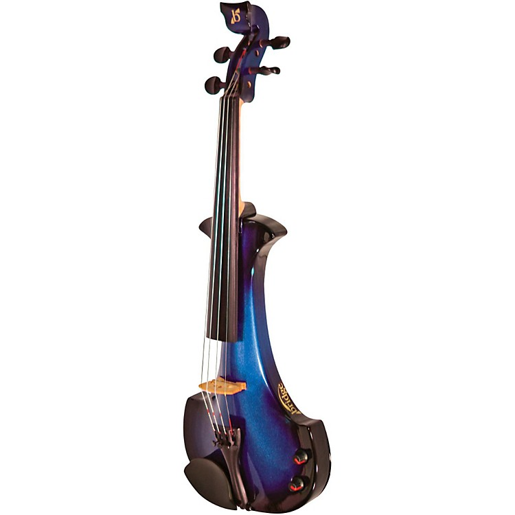 Bridge Aquila Series 4-String Electric Violin Black-Blue