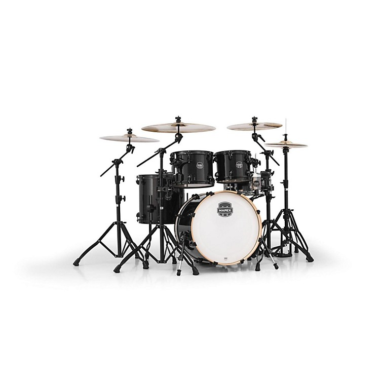 Mapex Armory Series 5-Piece Jazz/Rock Shell Pack Transparent Black