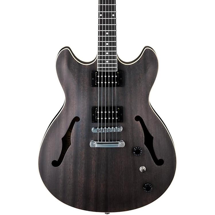 IbanezArtcore AS53 Semi-Hollow Electric GuitarTransparent Black Flat