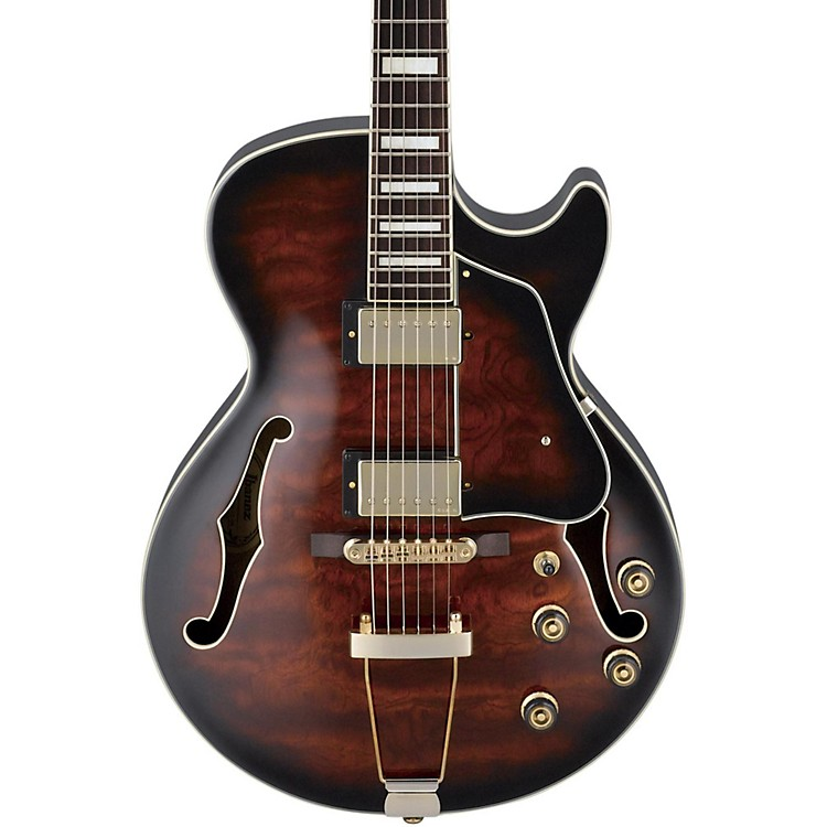 IbanezArtcore Expressionist AG95 Hollowbody Electric GuitarDark Brown Sunburst