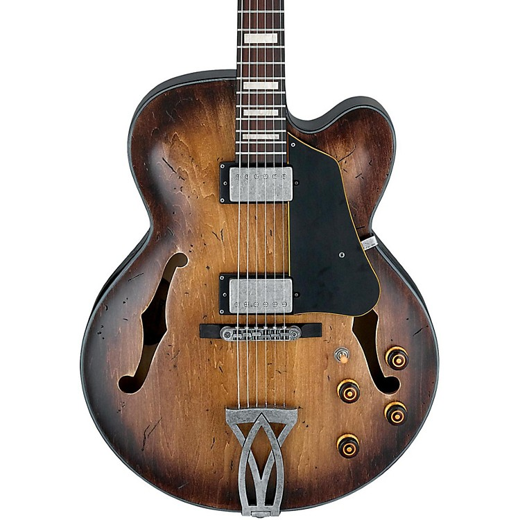 IbanezArtcore Vintage Series AFV10A Hollowbody Electric GuitarTobacco Burst Low Gloss