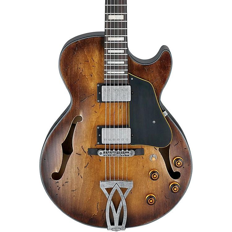 IbanezArtcore Vintage Series AGV10A Hollowbody Electric GuitarTobacco Burst Low Gloss