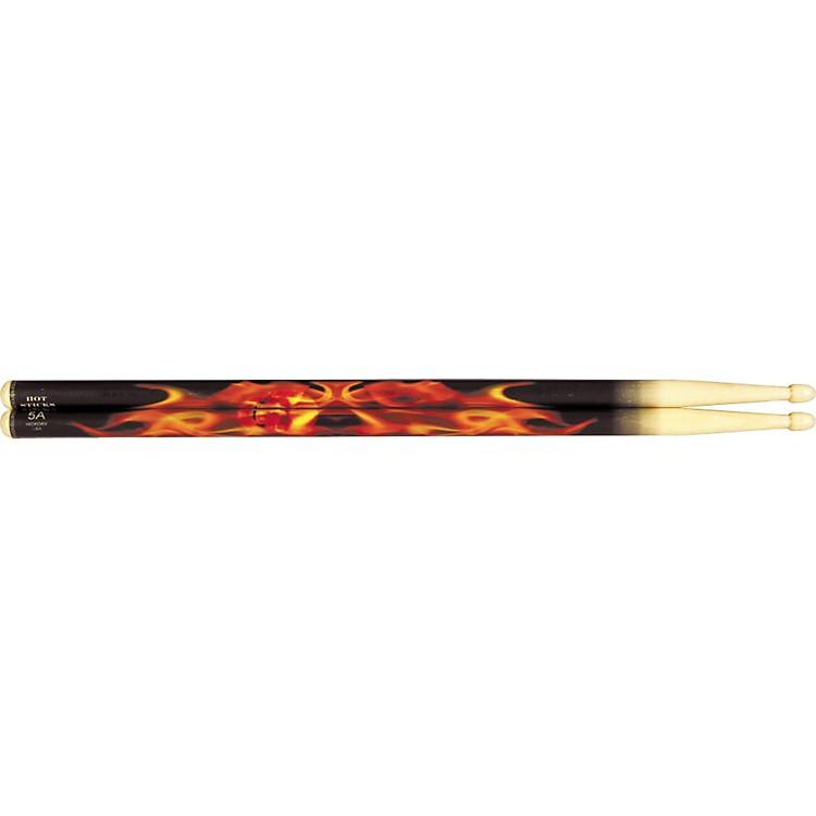Hot SticksArtiSticks Wood Tip DrumsticksFlaming Skull5A