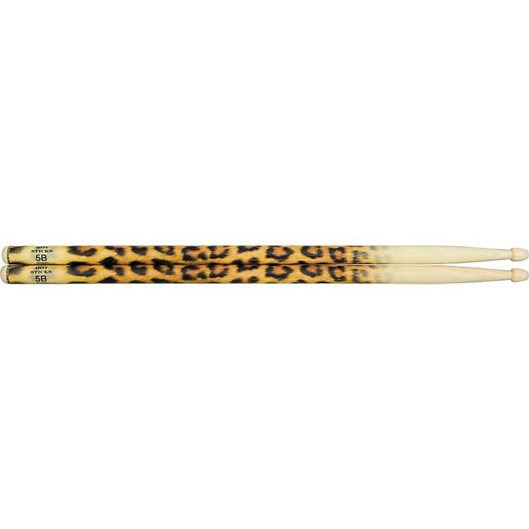 Hot SticksArtiSticks Wood Tip DrumsticksLeopard5B