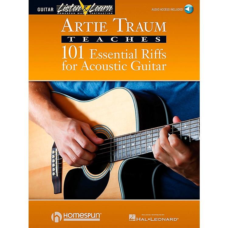 HomespunArtie Traum Teaches 101 Essential Riffs for Acoustic Guitar (Book/CD)